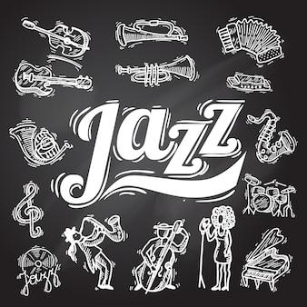 ジャズの黒板セット