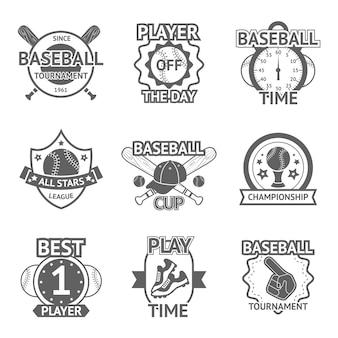 野球のエンブレムセット