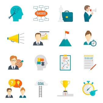 コーチングビジネスアイコンフラット