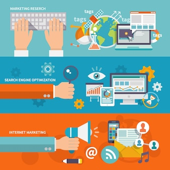 Сео интернет-маркетинг баннер