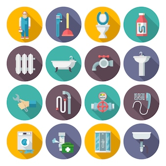 Набор значков сантехники