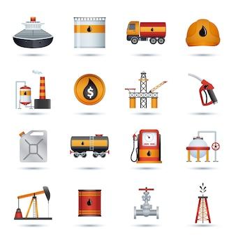 Иконки нефтяной промышленности