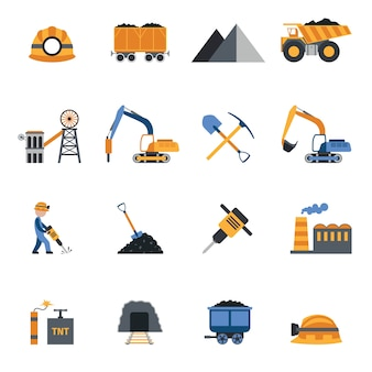 Иконки угольной промышленности
