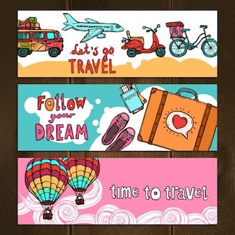 Набор баннеров для путешествий