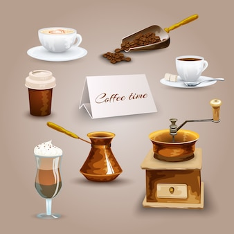 Набор иконок для кофе