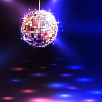 Фон диско-шара