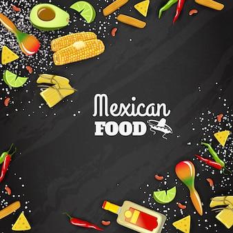 Мексиканская еда бесшовные фон
