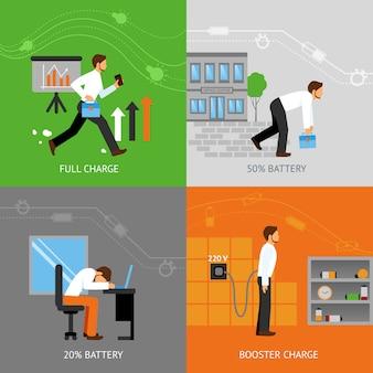 ビジネスマンのエネルギーコンセプト