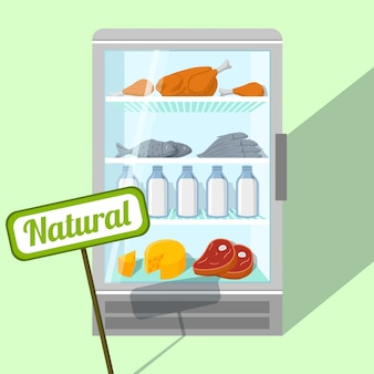 冷蔵庫の背景デザイン