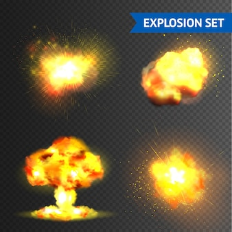 Набор реалистичных взрывов