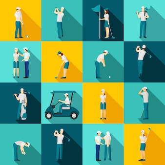ゴルフ人物フラット