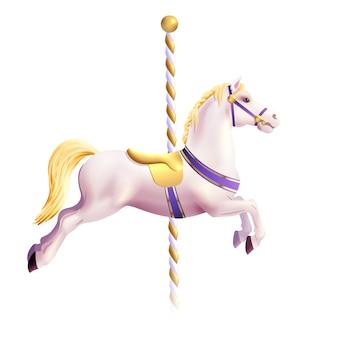 Карусельная лошадь реалистичная