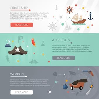 Набор пиратских баннеров