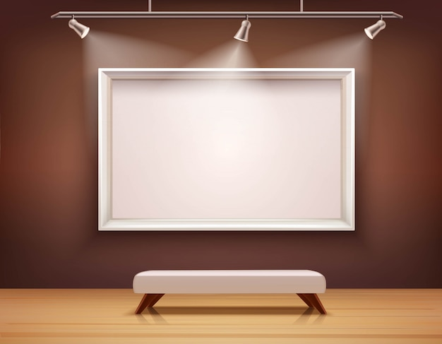 Иллюстрация галереи интерьера