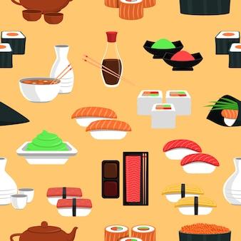 寿司のシームレスなパターン