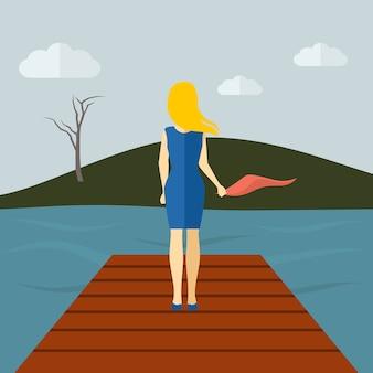 孤独な女の子フラット