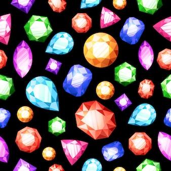 宝石類シームレスパターン