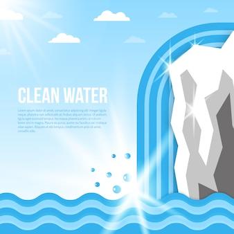 水の背景イラスト