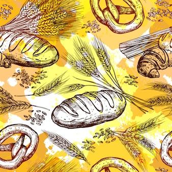 小麦シームレスパターン