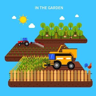 農業コンセプトイラストレーション