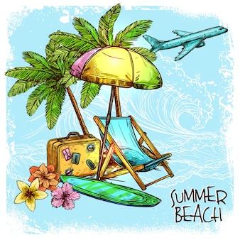 Концепция летнего пляжа