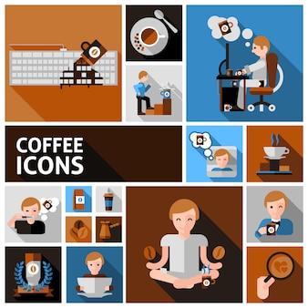 コーヒーアイコンセット