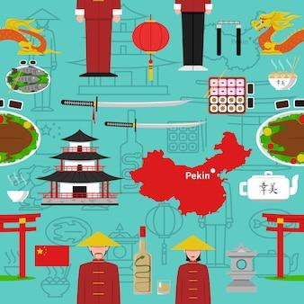 中国のシームレスパターン