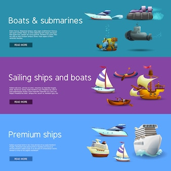 Набор баннеров и лодок