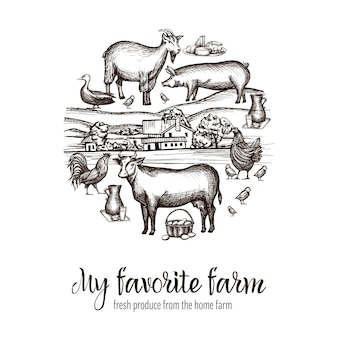 Плакат рынка фермеров