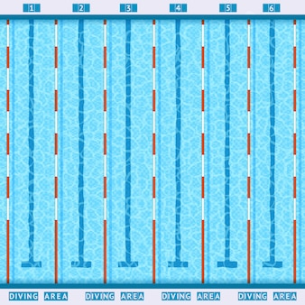 プールトップビューフラットピクトグラム