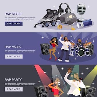 Баннер рэп-музыки