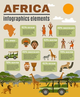 Африканский инфографический набор