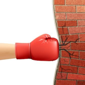 ボクシンググローブスポーツアクセサリー広告イラスト