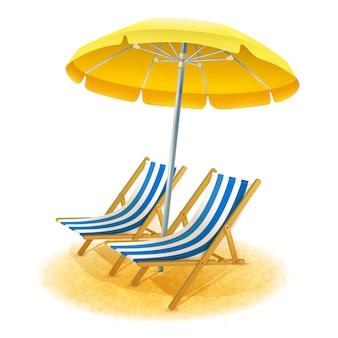 Пляжный курорт иллюстрация