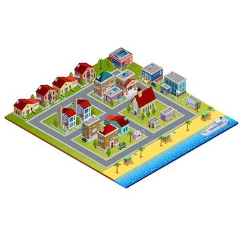 Изометрические город иллюстрация