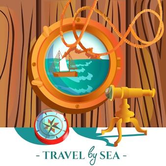 Морской морской плакат
