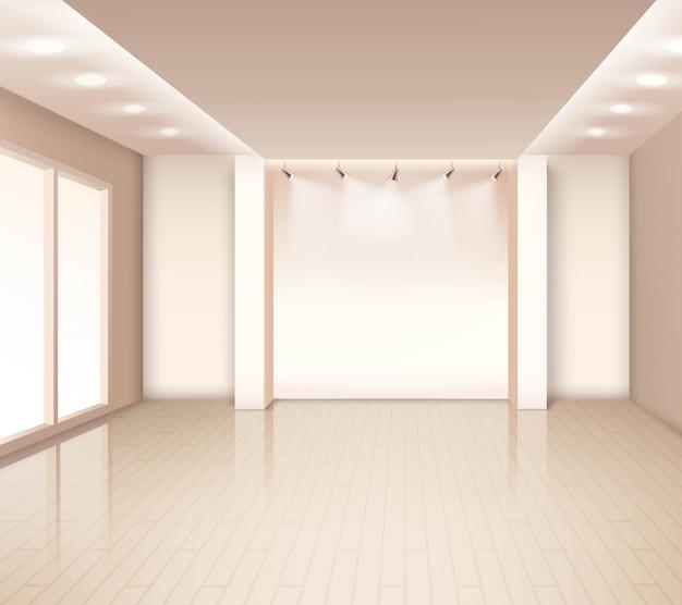 Пустой современный интерьер комнаты