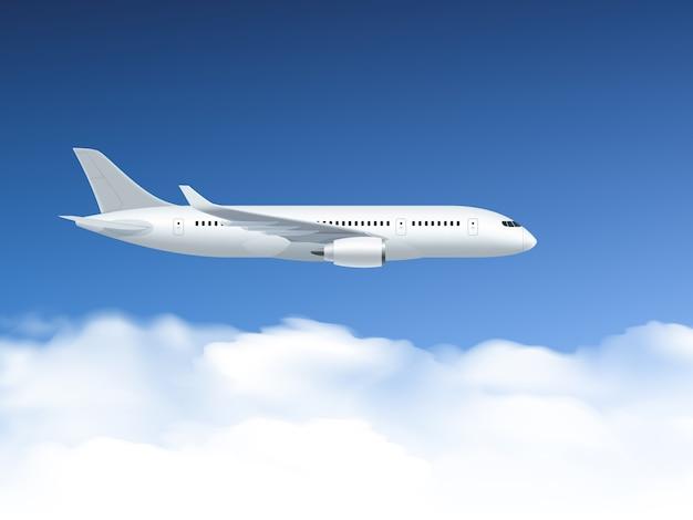 Самолет в воздухе плакат