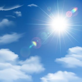 太陽の光の背景ポスター