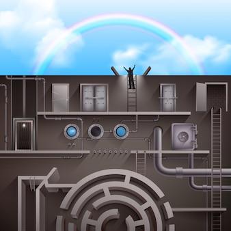 Иллюстрация выхода