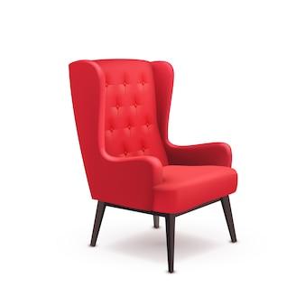 Кресло реалистичная иллюстрация