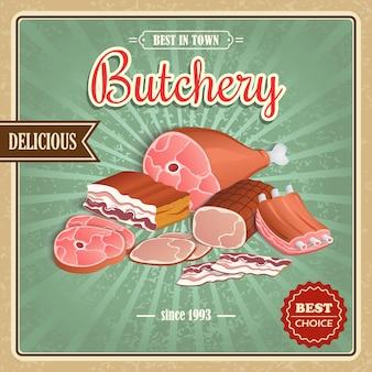 肉屋背景デザイン