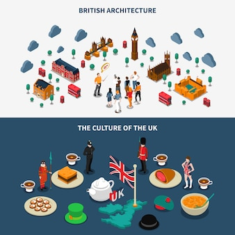 Набор баннеров великобритании