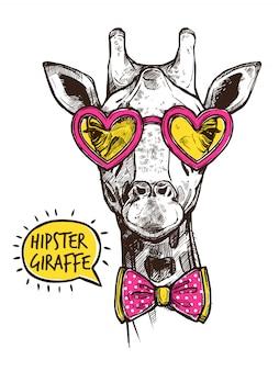 Хипстерский животный плакат