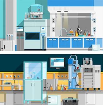 Горизонтальные баннеры двух научных лабораторий