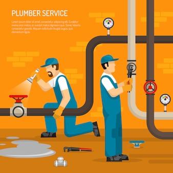 Инспекция трубопровода иллюстрации
