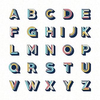アルファベットのテンプレートデザイン