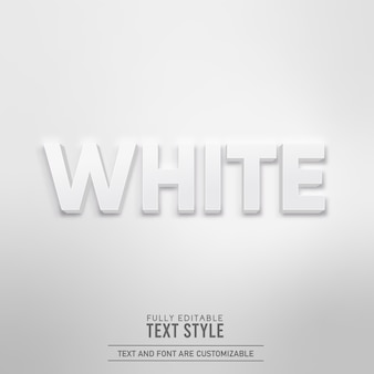 Белый минималистичный простой реалистичный трехмерный теневой редактируемый текстовый эффект