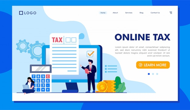 オンライン納税先ページのウェブサイトの図