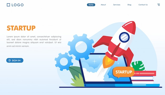 スタートアップビジネスのランディングページテンプレート